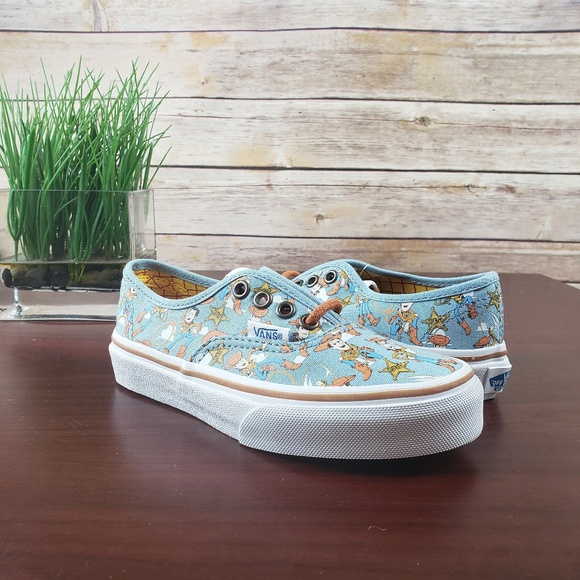 947bfa2d294bfd Vans Authentic Toy Story Woody True White Blue Kid